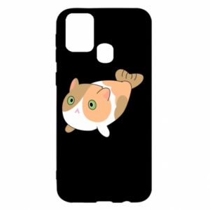Etui na Samsung M31 Red cat mermaid