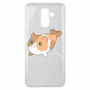 Etui na Samsung J8 2018 Red cat mermaid