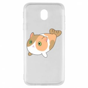 Etui na Samsung J7 2017 Red cat mermaid