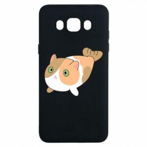 Etui na Samsung J7 2016 Red cat mermaid