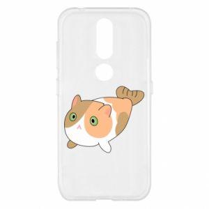 Etui na Nokia 4.2 Red cat mermaid