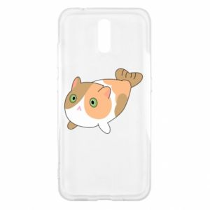 Etui na Nokia 2.3 Red cat mermaid