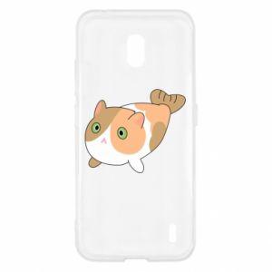 Etui na Nokia 2.2 Red cat mermaid