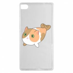 Etui na Huawei P8 Red cat mermaid