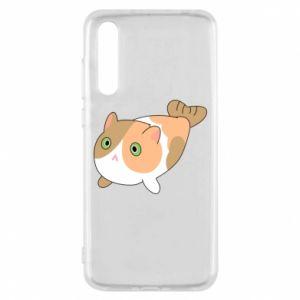 Etui na Huawei P20 Pro Red cat mermaid