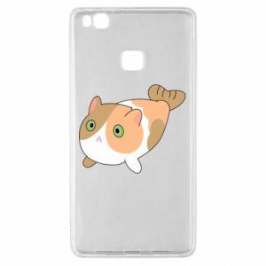 Etui na Huawei P9 Lite Red cat mermaid