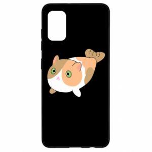 Etui na Samsung A41 Red cat mermaid