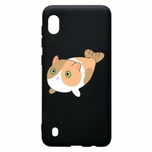 Etui na Samsung A10 Red cat mermaid