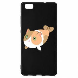 Etui na Huawei P 8 Lite Red cat mermaid