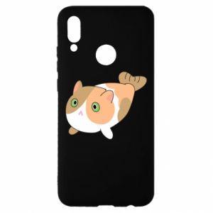 Etui na Huawei P Smart 2019 Red cat mermaid