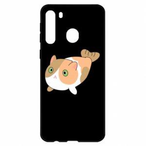 Etui na Samsung A21 Red cat mermaid