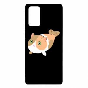 Etui na Samsung Note 20 Red cat mermaid