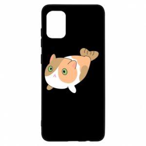 Etui na Samsung A31 Red cat mermaid