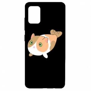 Etui na Samsung A51 Red cat mermaid
