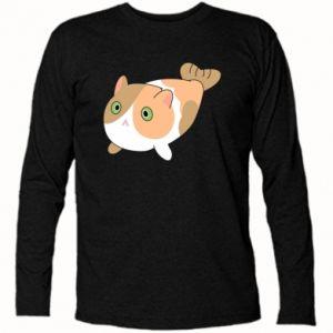 Long Sleeve T-shirt Red cat mermaid - PrintSalon