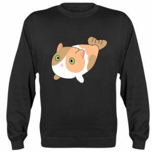 Sweatshirt Red cat mermaid - PrintSalon