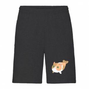 Men's shorts Red cat mermaid - PrintSalon