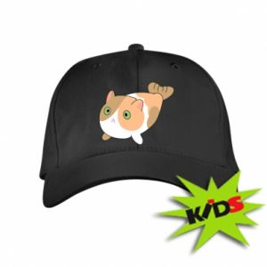 Kids' cap Red cat mermaid - PrintSalon
