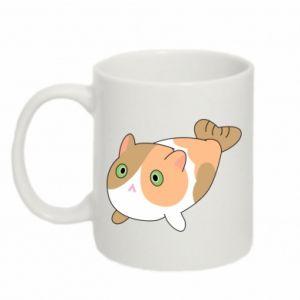 Mug 330ml Red cat mermaid