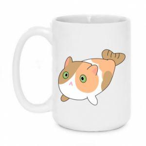 Mug 450ml Red cat mermaid - PrintSalon