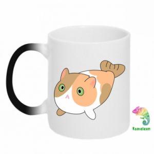 Kubek-kameleon Red cat mermaid