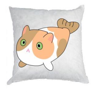Pillow Red cat mermaid - PrintSalon