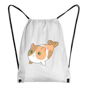 Backpack-bag Red cat mermaid - PrintSalon