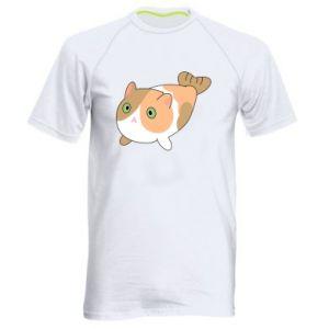 Men's sports t-shirt Red cat mermaid - PrintSalon