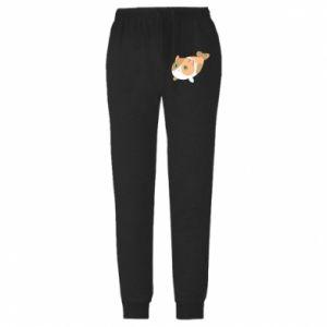 Męskie spodnie lekkie Red cat mermaid - PrintSalon