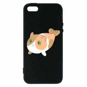 Phone case for iPhone 5/5S/SE Red cat mermaid - PrintSalon