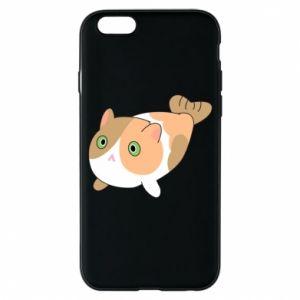 Phone case for iPhone 6/6S Red cat mermaid - PrintSalon