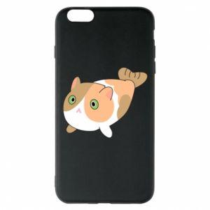Phone case for iPhone 6 Plus/6S Plus Red cat mermaid - PrintSalon