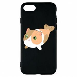 Phone case for iPhone 7 Red cat mermaid - PrintSalon