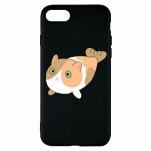 Phone case for iPhone 8 Red cat mermaid - PrintSalon