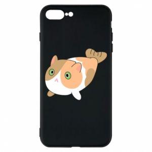Phone case for iPhone 8 Plus Red cat mermaid - PrintSalon