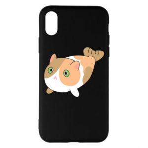 Phone case for iPhone X/Xs Red cat mermaid - PrintSalon