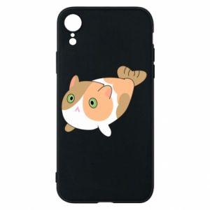 Phone case for iPhone XR Red cat mermaid - PrintSalon