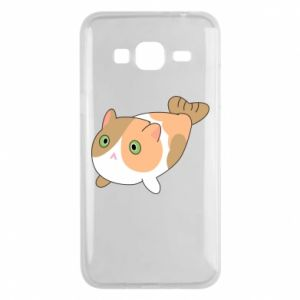 Phone case for Samsung J3 2016 Red cat mermaid - PrintSalon