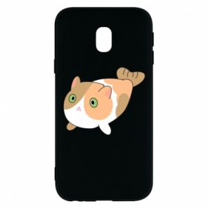 Phone case for Samsung J3 2017 Red cat mermaid - PrintSalon