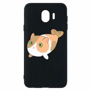 Phone case for Samsung J4 Red cat mermaid - PrintSalon
