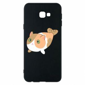 Phone case for Samsung J4 Plus 2018 Red cat mermaid - PrintSalon