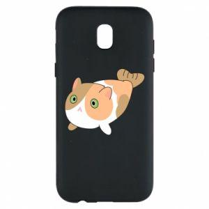 Phone case for Samsung J5 2017 Red cat mermaid - PrintSalon