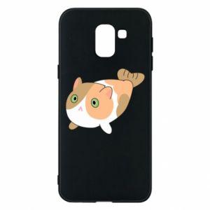 Phone case for Samsung J6 Red cat mermaid - PrintSalon