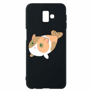 Phone case for Samsung J6 Plus 2018 Red cat mermaid - PrintSalon
