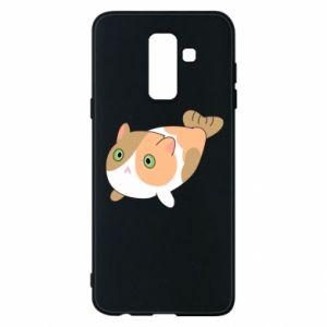 Phone case for Samsung A6+ 2018 Red cat mermaid - PrintSalon