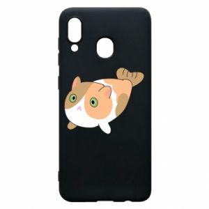 Phone case for Samsung A30 Red cat mermaid - PrintSalon