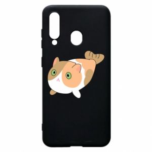 Phone case for Samsung A60 Red cat mermaid - PrintSalon