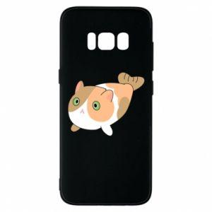 Phone case for Samsung S8 Red cat mermaid - PrintSalon