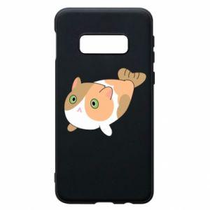 Phone case for Samsung S10e Red cat mermaid - PrintSalon
