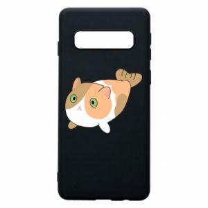 Phone case for Samsung S10 Red cat mermaid - PrintSalon